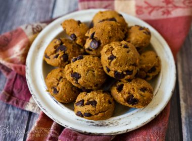 plate of Easy Pumpkin Chocolate Chip Cookies