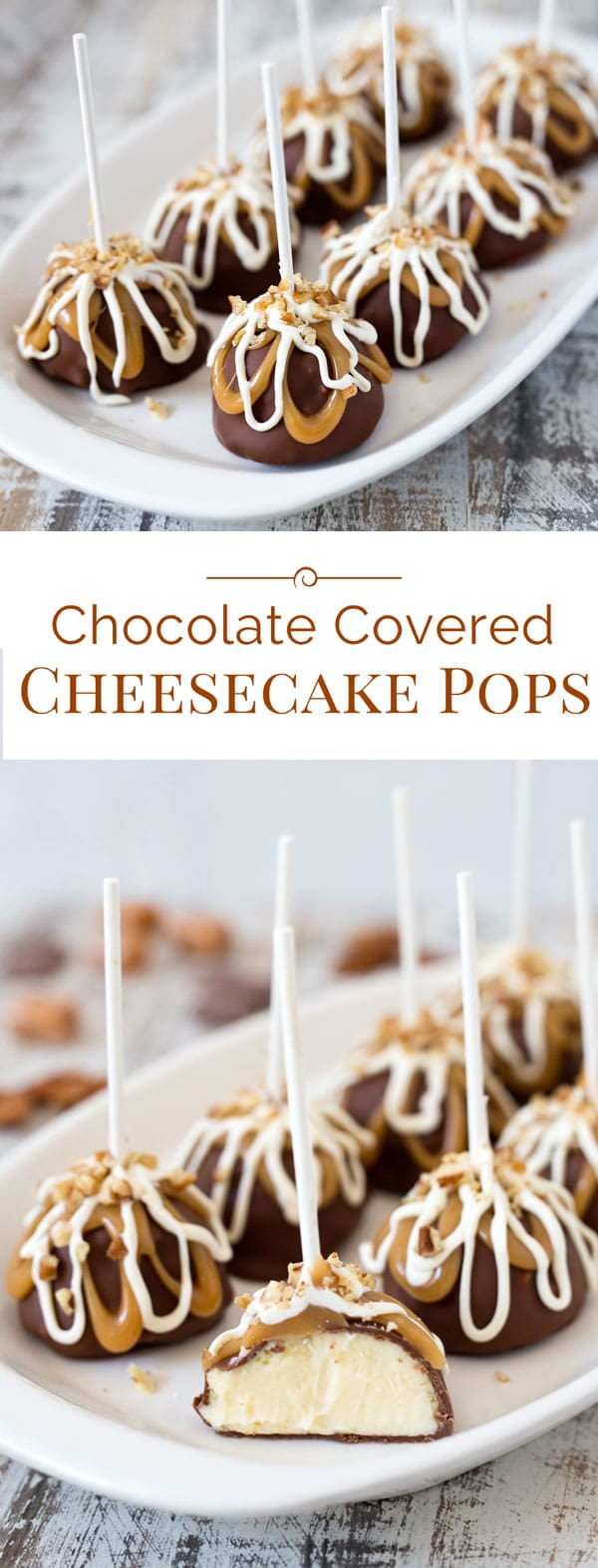 Chocolate Covered Cheesecake Pops with rich, smooth and creamy ...