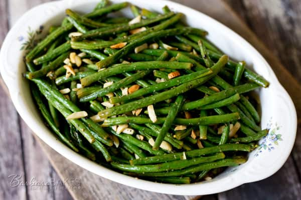 Roasted Green Beans with Almonds