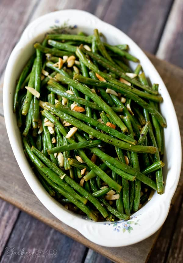 23. Roasted Green Beans with Almonds | Barbara Bakes