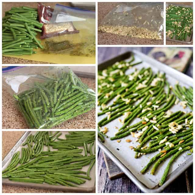 Making Roasted Green Beans with Almonds
