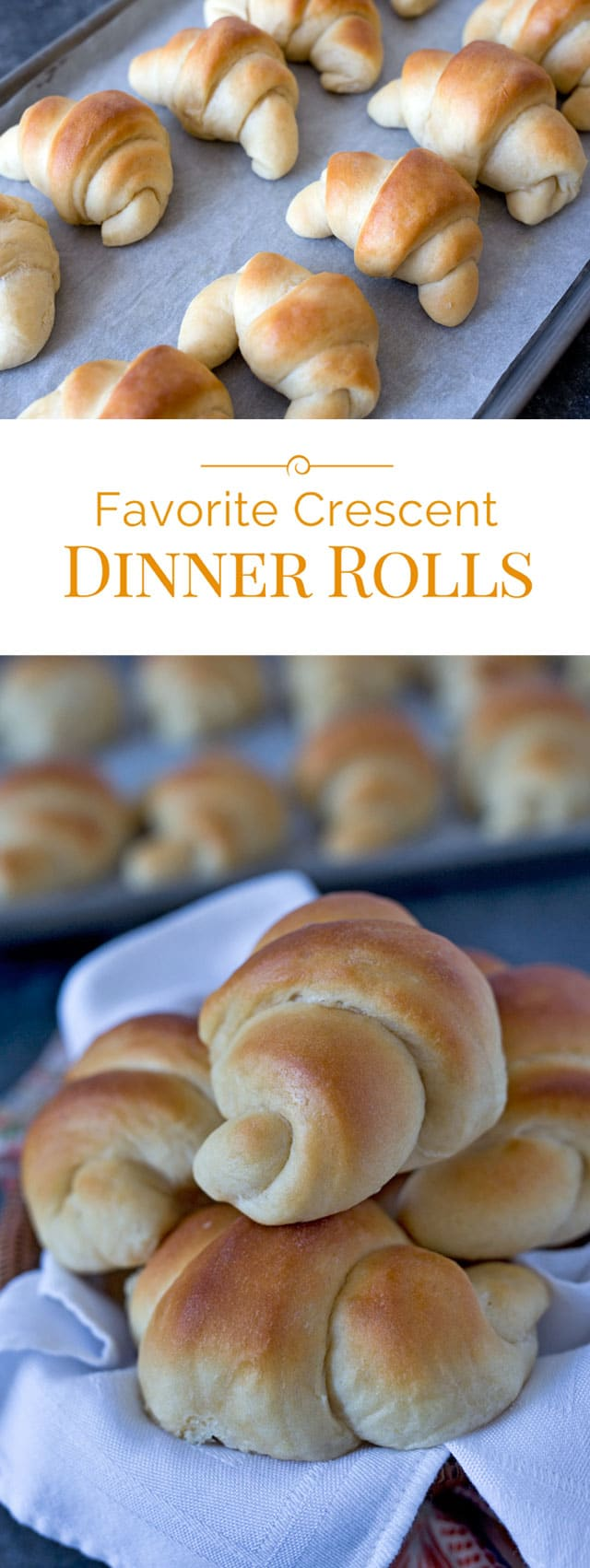 This is my favorite dinner roll recipe. It has a mix of whole wheat pastry flour and all purpose flour so it gives the rolls just a little more texture and body, but they're still light and fluffy.
