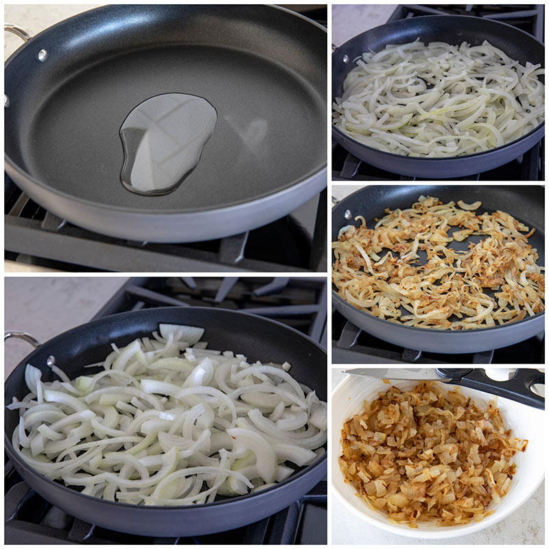 Caramelizing onions step by step photos
