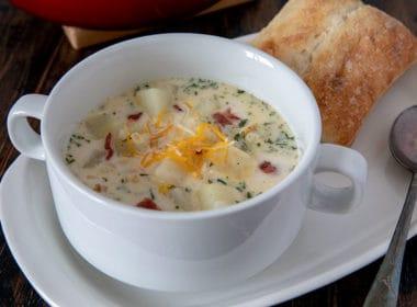 Baked Potato Soup In A Crock