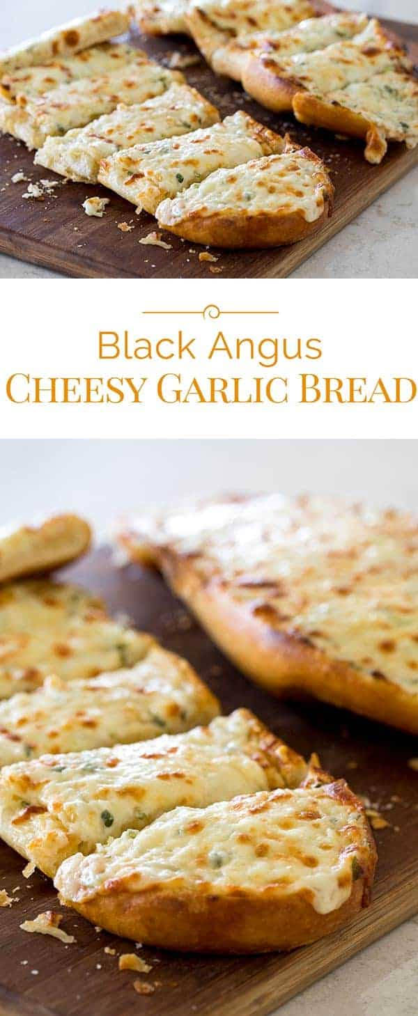 Next time you're looking for a great garlic bread to serve with your meal, give this Black Angus Cheesy Garlic Bread a try.