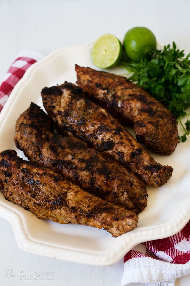 This Spicy Grilled Pork Tenderloin is a family favorite. It's has a great flavor and is always tender and juicy.