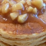 Whole Wheat Pancake and Waffle Blender Mix with Apple Cinnamon Topping