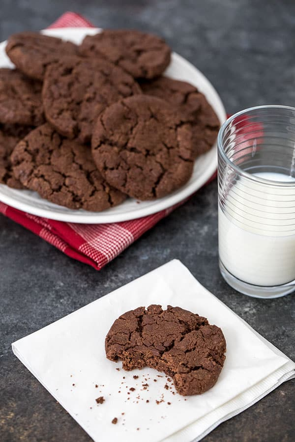 The famous World Peace cookie is a decadent chocolate shortbread cookie studded with chocolate chips. The crumbly, but not to crisp texture and rich chocolate flavor makes this a cookie you'll want to bake again and again.