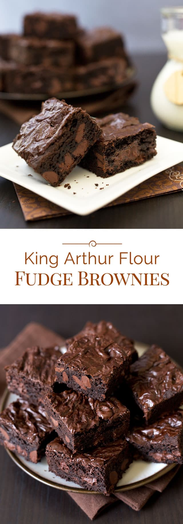 These King Arthur Flour Fudge Brownies are the best brownies I have ever made. A perfect balance of fudgy with just a touch of cakey.