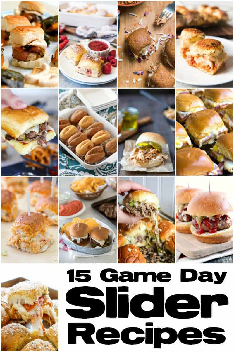 15 Game Day Slider Recipes (photo collage)