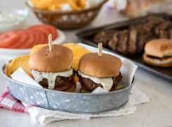 southwest chipotle burger sliders