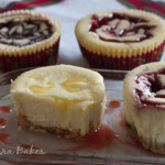 Lemon and Berry Swirl Mini Cheesecakes