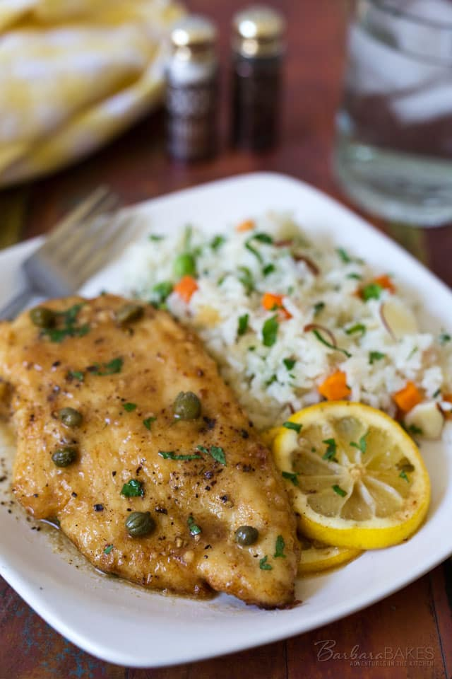 Using thin chicken cutlets is the secret to this Quick and Easy Chicken Piccata recipe. Dredging the chicken in flour and quickly pan frying it creates a crispy crust on the chicken which is briefly cooked in a flavorful lemon caper sauce.