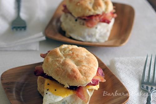 Breakfast Biscuit Sandwich