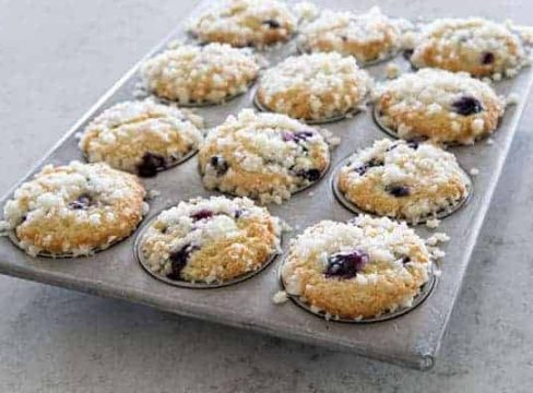 Featured Image for Best Blueberry Streusel Muffins