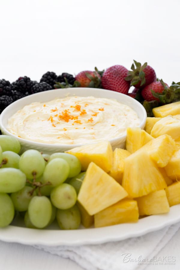 This Creamy Orange Fruit Dip is one of those simple but fabulous recipes that everyone seems to love. It's rich, creamy and delicious and tastes like a Creamsicle, only smoother and creamier.