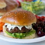 Queso Bacon Burgers with Avocado Salsa