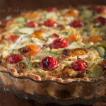 Farmers' Market Tomato and Zucchini Quiche