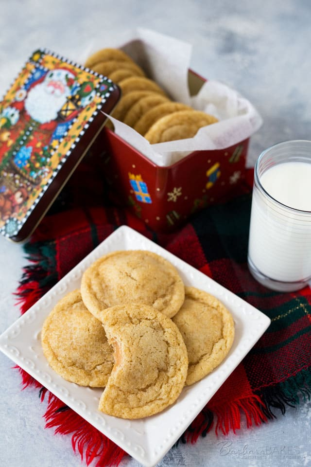 If you love a chewy cookie, you'll love these Chewy Caramel Stuffed Sugar Cookies.