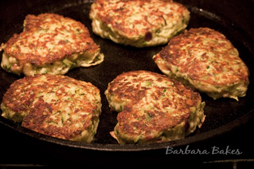 Zucchini, Bacon and Cheese Fritters