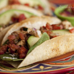 Crispy Baked Chicken and Black Bean Tacos