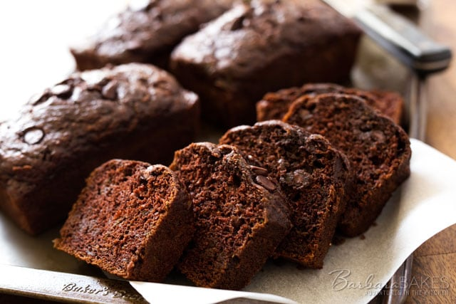 Chocolate Chip Zucchini Bread With Greek Yogurt