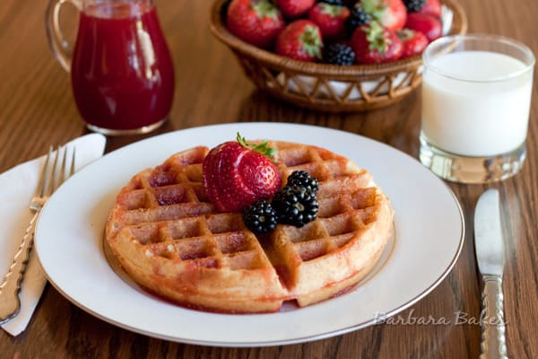Whole Wheat Yeast Waffles