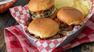 Bruschetta Turkey Burger Sliders with Avocado Spread
