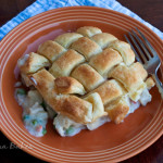 Chicken Pot Pie with Woven Puff Pastry Crust