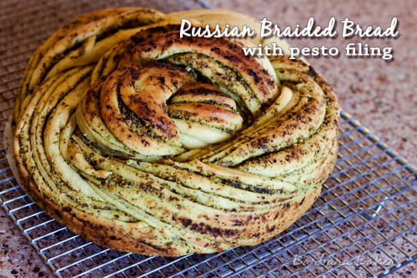 Russian Braided Bread with Pesto Filling to Celebrate World Bread Day