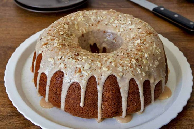 Pumpkin Sour Cream Streusel Coffee Cake