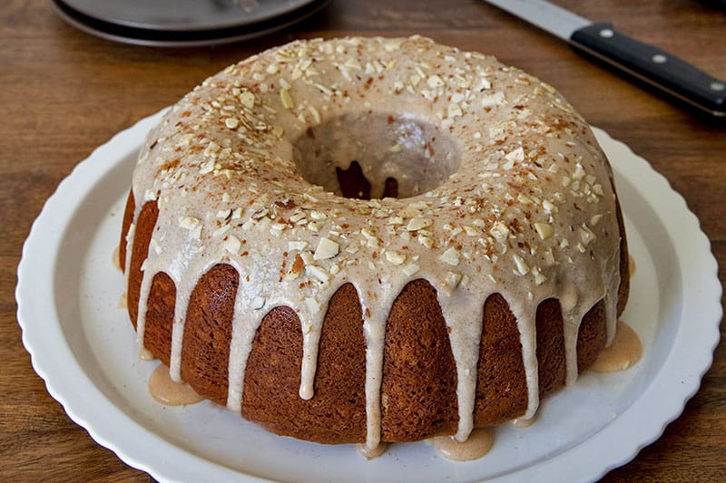 This Pumpkin Sour Cream Streusel Coffee Cake is perfect for fall.