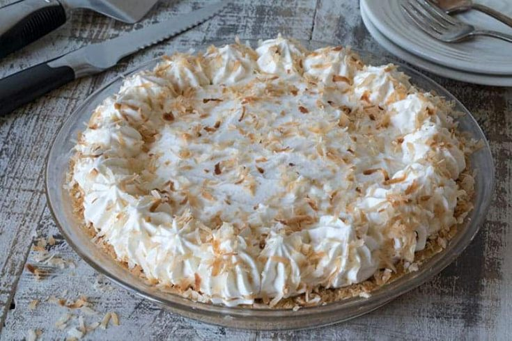 Coconut Cream Pie in a Shortbread Crumb Crust