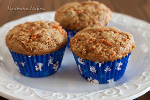 Whole Wheat Carrot Raisin Muffins