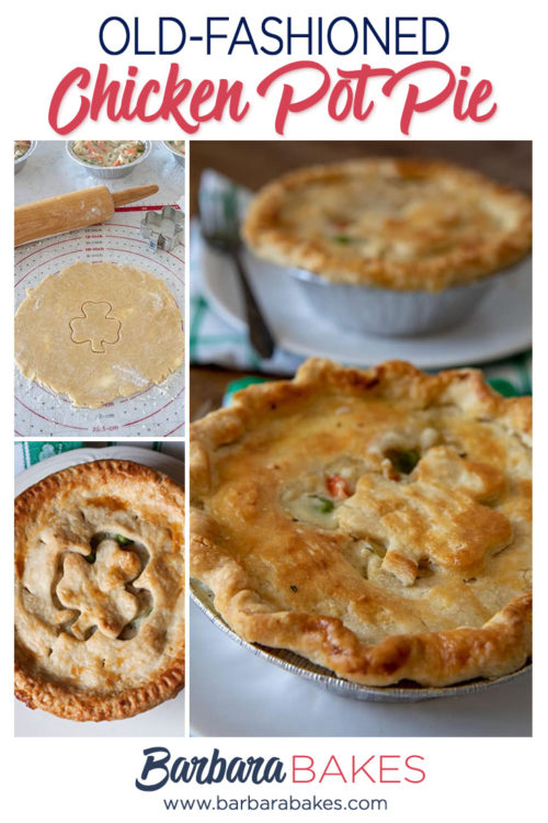Tender, Flaky, Homemade Chicken Pot Pie for St. Patrick's Day