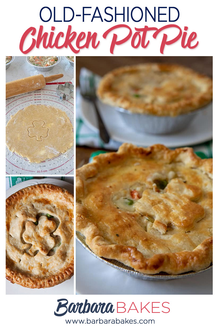 Tender, Flaky, Homemade Chicken Pot Pie for St. Patrick's Day via @barbarabakes