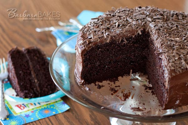 Black Magic Cake adapted for High Altitude