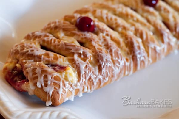 Cherry 'n' Cheese Lattice Coffeecake