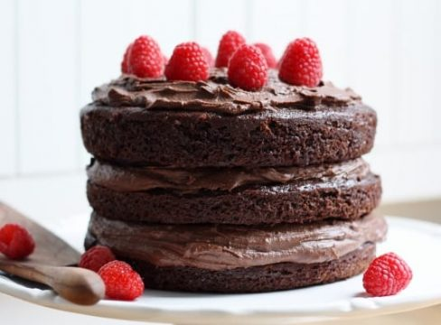 Featured Image for post Hazelnut Chocolate Mousse Cake