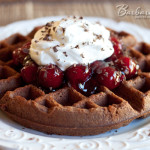 Black Forest Waffle Brownies