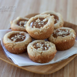Caramel Cashew Cookie Cups