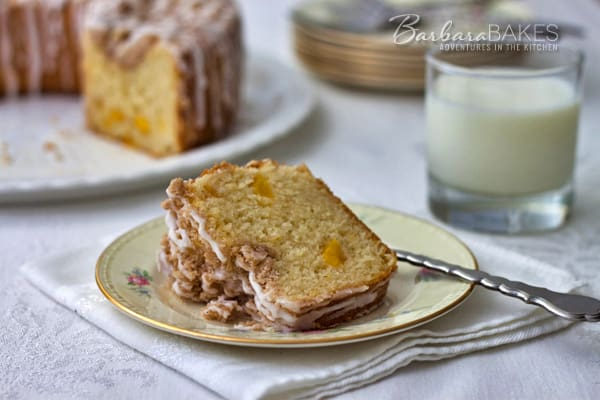 Fresh Peach Coffee Cake