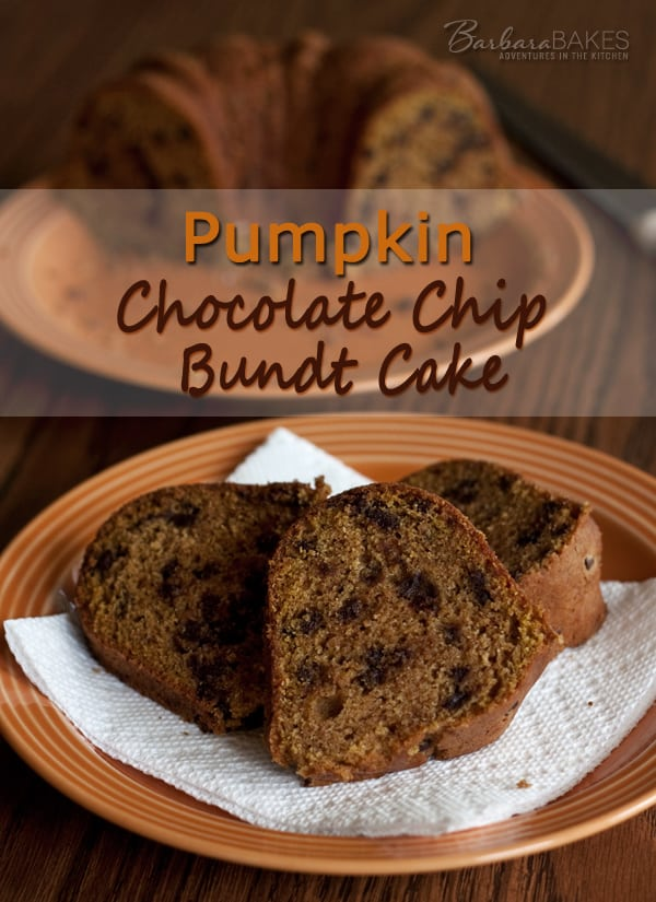 Pumpkin Chocolate Chip Bundt Cake Recipe Barbara Bakes