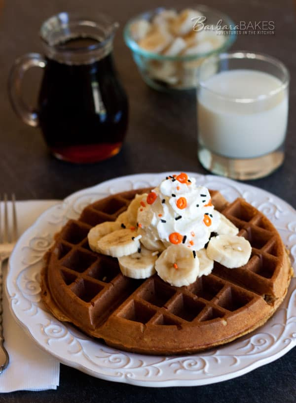 Whole Wheat Pumpkin Yeast Waffles