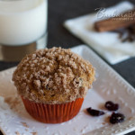 Whole Wheat Pumpkin Cranberry Streusel Muffins