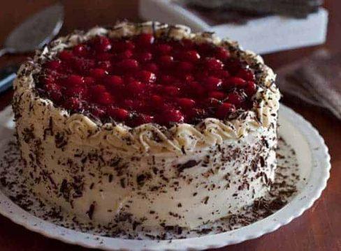 black forest cheesecake cake dessert