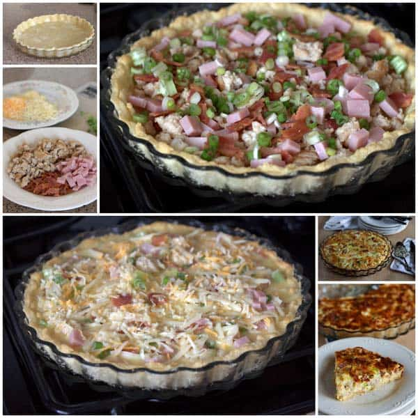 How to make Meat Lovers Quiche - Step by step photos