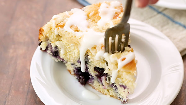 Eating Lemon Blueberry Coffee Cake