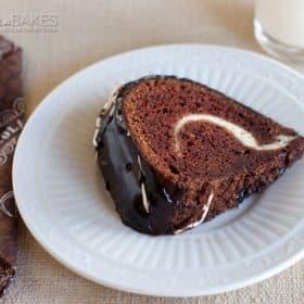 Chocolate Cheesecake Swirl Bundt Cake