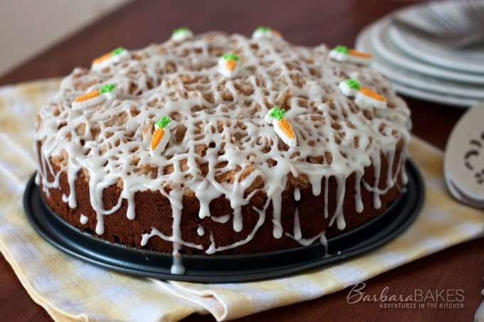 Carrot Raisin Coffee Cake